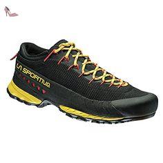 SHOES LA SPORTIVA TX 3 MEN BLACK YELLOW FOR APPROACH TREKKING - Chaussures la sportiva (*Partner-Link)