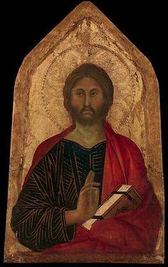 Segna di Bonaventura - Cristo benedicente - ca. 1311 - Tempera su tavola, fondo oro - Metropolitan Museum of Art, New York City