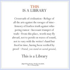 """This Is A Library"" Got that right! ;-D   http://megancraneandcaitlincrews.tumblr.com/post/31737767197     http://thelifeofabookjunky.tumblr.com/post/24733009464/boroondaralibraries-this-is-a-library"
