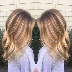 Natural rooty blonde blend.