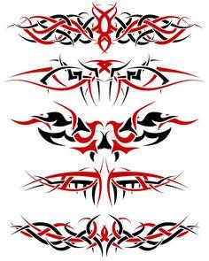 #Tattoo #TattooIdeas #TribalTattoos #TattooDesigns Tribal Tattoos For Men, Tribal Tattoo Designs, Dope Tattoos, Rose Tattoos For Men, Hand Tattoos For Guys, Tattoo Set, Back Tattoo, Red Pattern, Pinstriping