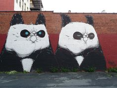 Panda graffiti/street art - Richmond, VA 2013