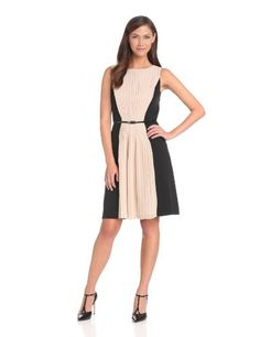 Adrianna Papell Women's Pleated Front Chiffon Crepe Dress, Black/Ecru, 14 Adrianna Papell,http://www.amazon.com/dp/B00E0DHQG4/ref=cm_sw_r_pi_dp_n2wEsb07KT3ZQG13