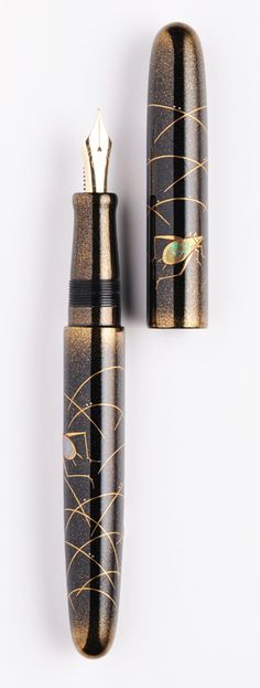 NAKAYA Fountain Pen, Japan, love the lacquer painting...beautiful.