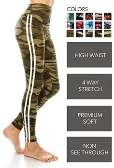 ae11f65308d ALWAYS Leggings Women Yoga Pants - Print Pattern High Waist Workout Buttery  Soft Stretchy