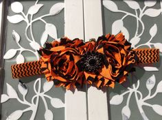 Orange and Black Halloween Chevron Headband Find all the supplies you need to make this cute headband at our supply shop