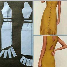 Fantastic Pic hand sewing dress Popular 54 Ideas Sewing Dress Patterns Dressmaking For 2019 Sewing Dress, Diy Dress, Sewing Clothes, Sewing Art, Dress Outfits, Dress Making Patterns, Skirt Patterns Sewing, Clothing Patterns, Dress Design Patterns