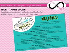 """Semi-Custom Postcard Design ~ """"Welcome to the Team!"""" ~ Welcome Postcards Welcome To The Team, Welcome Card, Custom Postcards, Postcard Design, Text Color, Service Design, Marketing, Personalised Postcards"""