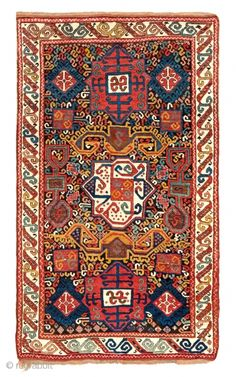 Fine Antique Oriental Rugs 6, Lot 168,Zakatala rug, Caucasus, mid 19th century, 7ft. 7in. x 4ft. 6in., Condition: Very good, minor small repairs Warp: wool Weft: wool Pile: wool, Aucion on November 19th, ...