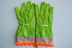 Who says you cant garden and be cute? Garden Gloves by Katherine Rohrbacher