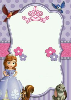 Join us for an Enchanted Party in Honor of Heidy Cordon Birthday On Saturday September 2018 At 405 s, sadler ave Los Angeles Ca 90022 Princess Sofia Invitations, Princess Sofia Birthday, Sofia The First Birthday Party, 4th Birthday Parties, Birthday Invitations, 2nd Birthday, Happy Birthday, Disney Frames, Princesa Sophia
