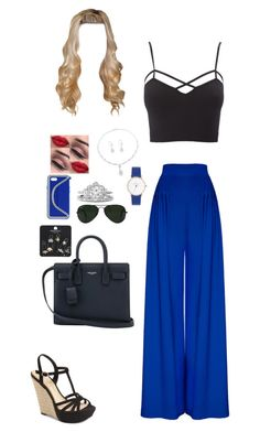 """""""Untitled #251"""" by dorastyles-clxiv on Polyvore featuring Hebe Studio, Charlotte Russe, Jessica Simpson, NOVICA, STELLA McCARTNEY, Yves Saint Laurent, Ray-Ban, Topshop and plus size clothing"""