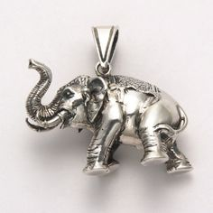 Large Three Dimensional Elephant Pendant at theBIGzoo.com, an animal-themed store established in August 2000.