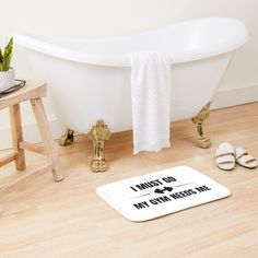 deko badewanne 'Meh' Bath Mat by marisophie Graphic T Shirts, Tee Shirts, Bath Mat Design, 3d Home, Clawfoot Bathtub, Never Give Up, Washing Machine, The Best, Cool Stuff