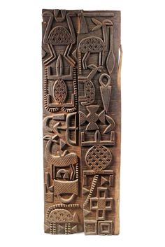 Africa   Door panels from the Senufo people from southern Mali   Wood   20th century