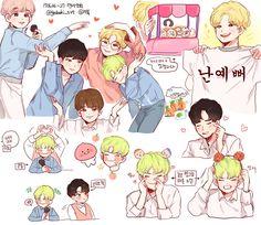 Woozi, Jeonghan, Morning Rain, Seventeen Memes, Kdrama Memes, Art Folder, Korean Art, Kpop Fanart, Cute Boys