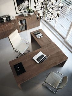 Home Office Furniture White 44 Ideas For 2019 Office Table Design, Office Space Design, Modern Office Design, Home Office Space, Office Interior Design, Home Office Decor, Office Interiors, Modern Office Table, Cozy Office