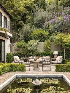 english Garden room Scott Shraders Lavish Gardens Are As Elegant As They Are Inviting - Introspective Outdoor Rooms, Outdoor Gardens, Outdoor Living, Courtyard Gardens, Small Gardens, Outdoor Decor, Dream Garden, Home And Garden, Home Garden Design