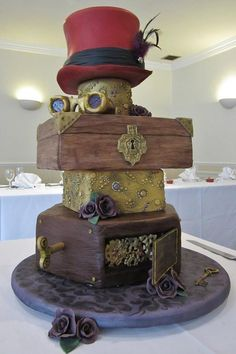 20 Awesomely Made Steampunk Wedding Cakes