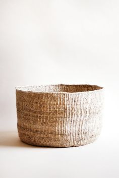 "- hand woven banana leaf basket - floppy edge design - 15"" x 9"" - Handmade in Rwanda by local female artisans Indego Africa is a nonprofit social enterprise & lifestyle brand that empowers women in Rw"