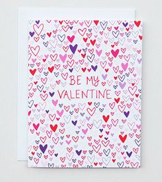 Happy Cactus Designs Be My Valentine Hearts Card // © Happy Cactus Designs