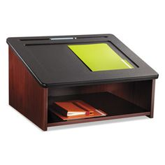 Safco Tabletop Lectern 24w X 20d 13 3 4h Mahogany Black