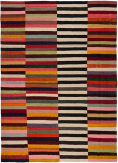 textile : tapis rayé by Loom Rugs Bauhaus Textiles, Motifs Textiles, Textile Patterns, Print Patterns, Floral Patterns, Textile Pattern Design, Stoff Design, Quilt Modernen, Rug Hooking