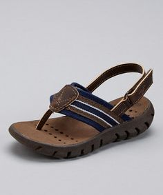 Look what I found on #zulily! Brown & Navy Coast Sandal by OshKosh B'gosh #zulilyfinds