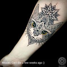cat tattoo small for women * cat tattoo small ; cat tattoo small for women ; Animal Mandala Tattoo, Dotwork Tattoo Mandala, Cat Mandala, Black Cat Tattoos, Mini Tattoos, Badass Tattoos, Cool Tattoos, Mandala Bracelet, Tattoos For Women Small