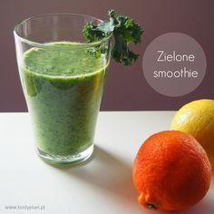 Zielone smoothie z jarmużem i ananasem -  green detox smoothie trochę bardziej na słodko :)