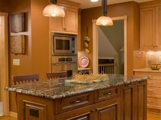 Golden Oak Cabinets Granite Countertops | Remodeling Dimensions has been providing home owners in the ...