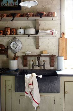 Rustic and charming country kitchen.