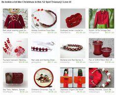 Its lookin a lot like Christmas in this 12 Spot Treasury! Love it! by Sherry belbot from Vintagetimelessbride. www.etsy.com/treasury/MjYyMjQ1Mjl8MjcyNzAzNDYxMg/its-lookin-a-lot-like-christmas-in-this