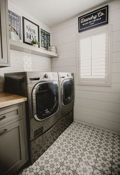 Basement Laundry Room Decorations Ideas And Tips 2018 Small laundry room ideas Laundry room decor Laundry room makeover Farmhouse laundry room Laundry room cabinets Laundry room storage Box Rack Home Laundry Room Tile, Laundry Room Remodel, Laundry Room Cabinets, Basement Laundry, Small Laundry Rooms, Laundry Room Organization, Room Tiles, Laundry Room Design, Organization Ideas