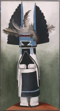 """Kachina,"" by Georgia O'Keeffe, on display at the Denver Art Museum. (Denver Art Museum/Georgia O'Keeffe Museum, Courtesy photo)"