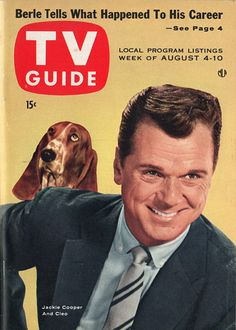 "Cleo the Bassett and Jackie Cooper of ""The People's Choice""  August 4-10 1956 tv guide"