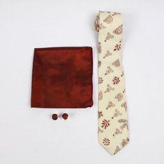 Wine & Cheese Kantha Silk Tie Set