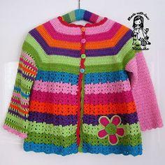 Crochet Girls Coat Free Pattern