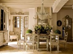 4 Seductive Tips: Shabby Chic Home Coffee Tables shabby chic kitchen countertops.Shabby Chic Home Chandeliers. French Country Dining Room, French Country Cottage, French Country Style, French Farmhouse, Country Chic, Country Living, Country Farmhouse, Farmhouse Chic, Rustic French