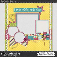 Connie Prince Designs | Quick Page Freebie from Deanna created with Procraftinating!