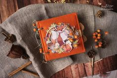 Осенний альбомчик с лисичками