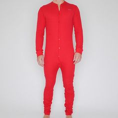 Union Suit Underwear Red -- I want with a butt-flap, yes... I said that