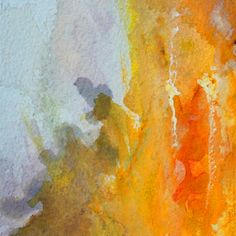 Dorset Abstract - section from Neal Vaughan watercolour