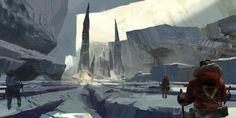 ArtStation - Glacial Split, Ryan Gitter