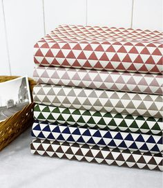 * 100% Cotton with mini triangles * Color: Dark Brown * Triangle is about 1.5 cm (0.59) * Size: 1 Yard = 110 cm wide x 90 cm long (43 x 35.4) * Multiple yards will be cut in one piece. * Great for clothes, bedding, curtain, dolls, scarf bib, baby blanket, accessories and more  ----------------------------------------------- * If youd like to track your order, please choose a shipping option called With Tracking Number during checkout. *  Please check out other beautiful fabrics in our s...