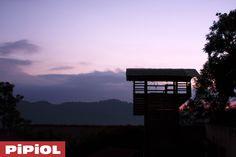 La vista de la torre de rappel y escalda en la Hacienda de PIPIOL