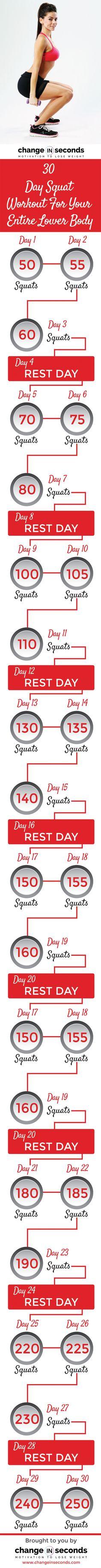 Fitness Motivation : 30 Day Squat Challenge www. Fitness Workouts, Yoga Fitness, Quotes Fitness, Fitness Workout For Women, Fun Workouts, Fitness Diet, Morning Workouts, Health Fitness, Free Fitness