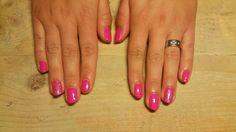 Pink gellak nails ♡