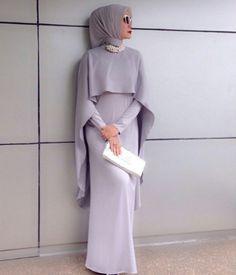 to Wear Hijab with Gowns? 30 Modest Ways to Try Now simple-gown How to Wear Hijab with Gowns ? 20 Modest Ways to Trysimple-gown How to Wear Hijab with Gowns ? 20 Modest Ways to Try Islamic Fashion, Muslim Fashion, Modest Fashion, Hijab Evening Dress, Evening Dresses, Hijab Gown, Dresses Dresses, How To Wear Hijab, Hijab Wear