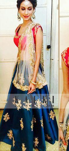 The super gorgeous Beyhadh actress, @vajanianeri looking divine in @kalkifashion's exclusive floral motif legenga. #KalkiCeleb  SKU : 364809